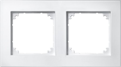 Preisvergleich Produktbild Merten 486219 M-PLAN-Rahmen, 2fach, polarweiß