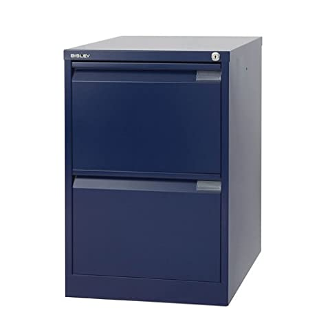 Bisley Filing Cabinet BS2E 2 drawer H711xW470xD622mm Steel - Color: Oxford Blue