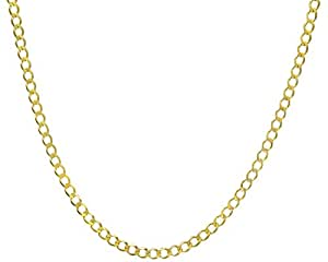 Citerna 9 ct Yellow Gold 10.9 g Curb Chain Necklace of 46 cm/18 Inch Length and 5 mm Width