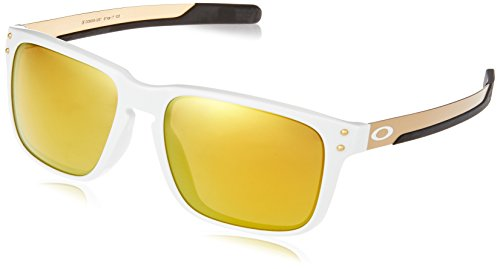 Oakley Men's Holbrook Mix (a) Non-Polarized Iridium Rectangular Sunglasses, Polished White, 57.0 mm - White Sonnenbrille Holbrook