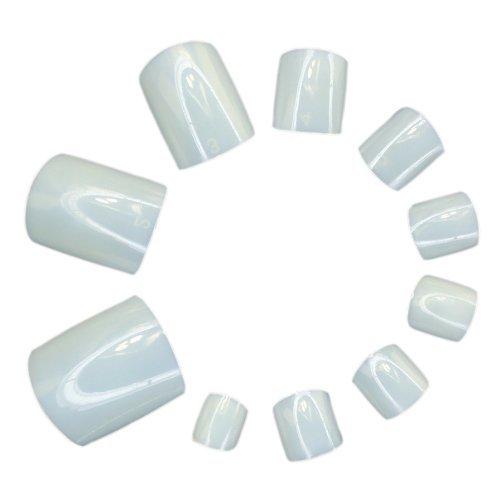 Nicedeco 500er Set Natürliche voller Nägel Falsche Nagel Tips Nail Art UV Gel Falsch Gefälscht Nagel Kunst Spitzt Kunstnägel Künstliche Zehen Fußnägel Set DIY
