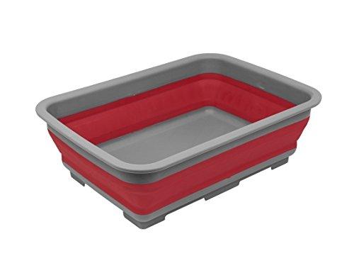 Invero–Barreño plegable–portátil 10litros Almacenamiento de agua lavabo ideal para camping, caravanas, actividades...