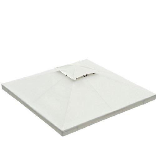 Homcom - Techo de reemplazo para estructura de carpa (varios, colores y medidas), medida 3x3 metros, color crema