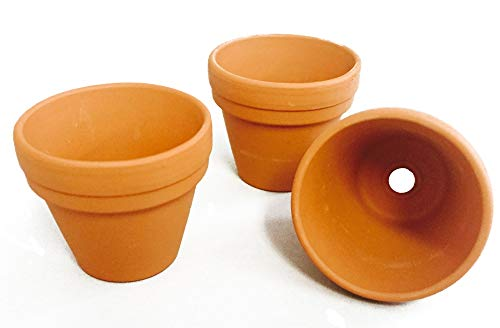Bastel Terracotta Blumentopf 4,5 cm Tontöpfe Basteltöpfe 60 Stück