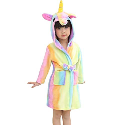Chicolife Chicos niña niño Albornoz camisón Unicornio