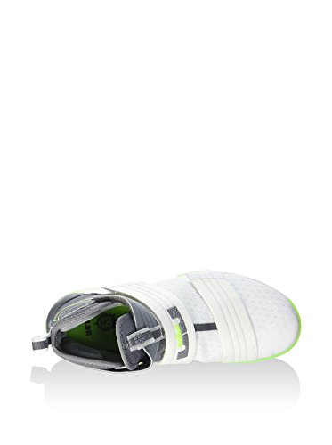 Nike Lebron Soldier 10 Sfg, Chaussures de Sport-Basketball Homme Blanco (Blanco (white/cool grey-electric green))