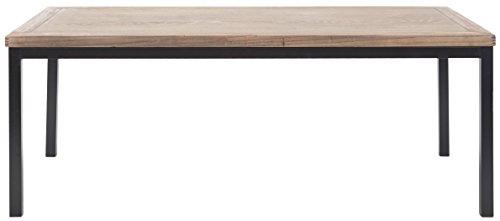 Safavieh EUH6588A Dylan Table Basse Bois Chêne Moyen/Noir 118 x 57 x 46,48 cm