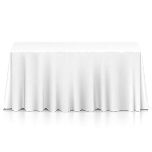 Wedding supply tovaglia rettangolare in cotone e poliestere per matrimoni, cene e feste di compleanno, 70 x 144 pollici, tessuto, single, bianco
