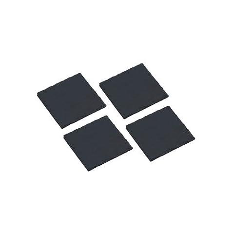 KitchenCraft MasterClass Artesà Set of 4 Square Slate Coasters, 10 cm