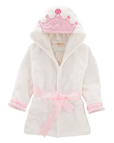 Mädchen Weihnachts-nachthemd (DianShaoA Bademantel Mit Kaputze Für Mädchen Und Jungen Kids Weihnachten Cosplay Morgenmantel Nachthemden Krone 110)