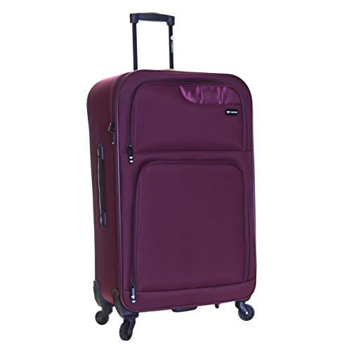 Slimbridge Bagage Valise Légere XL Grande à roulettes pivotantes 79 cm 2,9 kg 100 Litre 4 Roues, Andalousie Violet