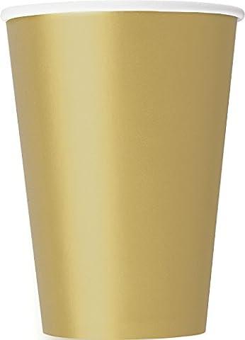 10 goldene Pappbecher