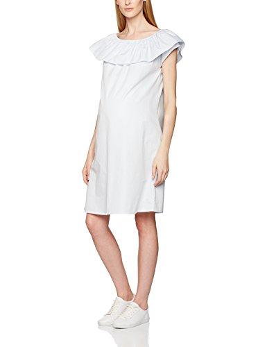 mamalicious-mlvitoria-s-s-woven-robe-de-maternite-femme-bleu-skyway-38-taille-fabricant-medium