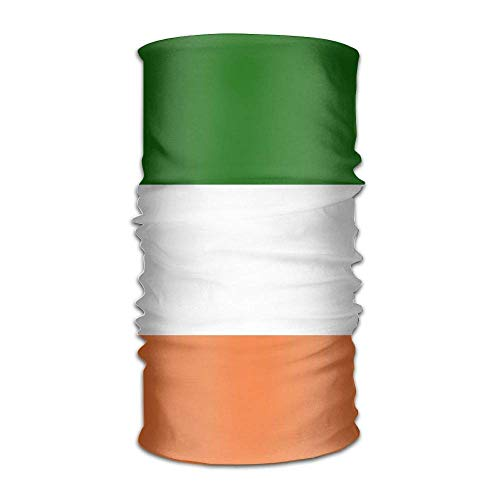 FAFANIQ Irish Flag Unisex Breathable Headband Bandanas Headwear Balaclava Neck Gaiter Moisture Wicking UV Protection for Daily Activities