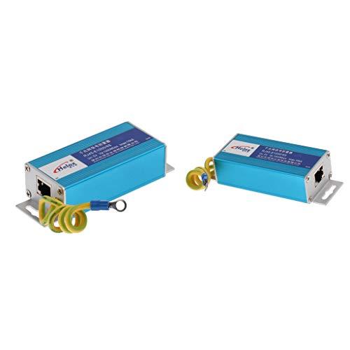 F Fityle RJ45 Überspannungsschutz Gerät RJ45-Anschluss Ethernet LAN Computer Netzwerk Überspannungsableiter (2 STK.)
