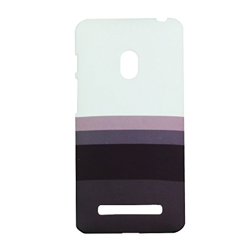Heartly Strip Style Retro Color Armor Hybrid Hard Bumper Back Case Cover For Asus Zenfone 5 A501CG - Ash Brown  available at amazon for Rs.149