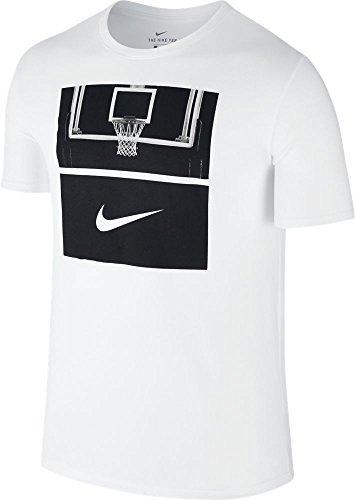 Nike M NK Dry Tee DF Core Art 1 Basketball Tee for Man, White (White / White / Black), S