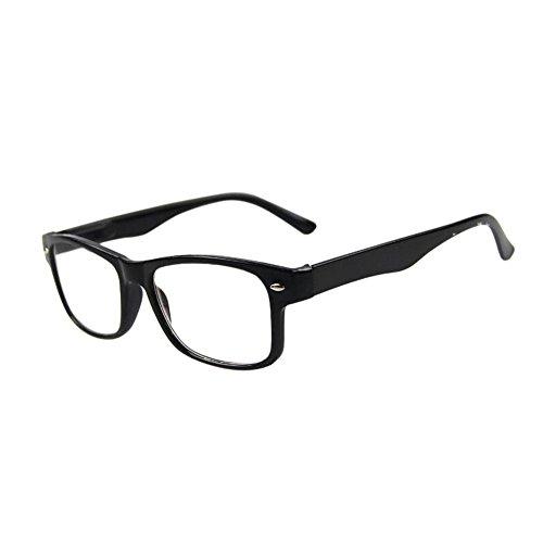 Zhuhaixmy Schwarz Rahmen Kurz Entfernung Kurzsichtig Anti-Müdigkeit Kurzsichtigkeit Brillen Klar Linsen -1.0-1.5 -2.0-2.5 -3.0-3.5 -4.0(Diese sind nicht Lesen Brille)