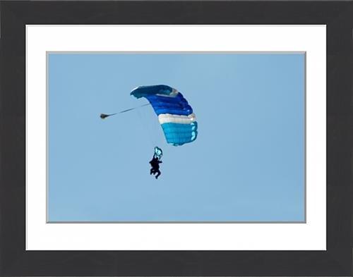 framed-print-of-blue-parachute-in-blue-sky