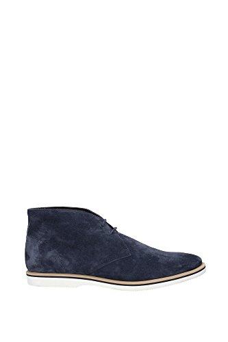 HXM2620R400D54U806 Hogan Chaussure montante Homme Chamois Bleu Bleu
