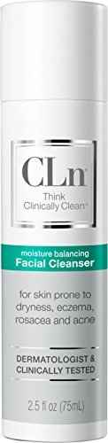 CLn Facial Cleanser - Sensitive Skin Facial Cleanser, For Skin Prone to Rosacea, Eczema, and Acne (2.5 fl oz) by CLn