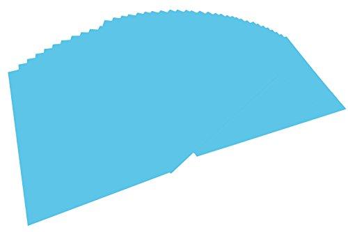 folia 6430 Tonpapier (DIN A4, 100 Blatt) himmelblau