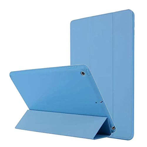 iPad 9,7-Zoll-2018 2017 Fall, hellblau Slim-Fit Smart Gummi Folio Case Hard Cover leichte Aufwachschutz für Apple iPad 5. 6. Generation Retina Modell A1893 A1954 A1822 A1823 Gummi Hard Case Cover