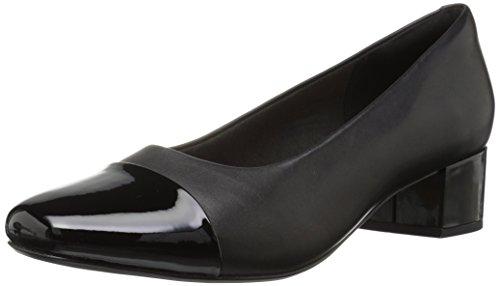 Clarks Mid Heel Heels - Clarks Damen Chartli Diva Black Leather/Synthetic