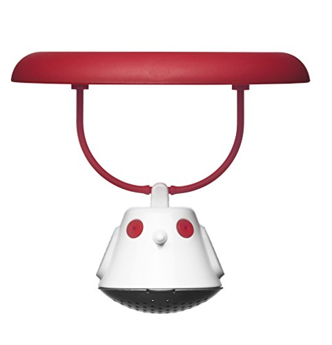 QDO-567608Coperchio infusore per tè Birdie plastica Rosso/Trasparente 9x 10x 10cm