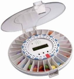 Tabtime medelert cii, distributore automatico di pillole chiudibile a chiave con 6 allarme al giorno. coperchio trasparente, versione più recente.essenziale per i pazienti alzheimers-demenza-anziani,