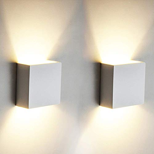 2 PCS 6W LED de pared Arriba abajo Lámpara de pared interior Moderno Aplique de pared...