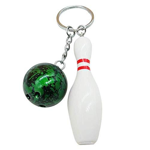 Carry stone Nette Keychain Mode Bowling Ball Anhänger Schlüsselbund Tasche Auto Hängende Verzierung Schlüsselanhänger Halter Schlüsselanhänger Praktische und Nützlich - Ball Halter Bowling