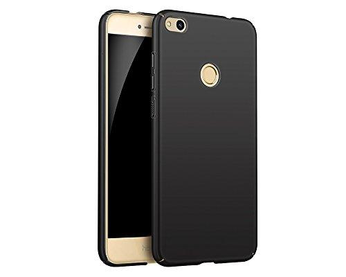 EIISSION Case Kompatibel mit Huawei P8 Lite (2017) Hülle, Hardcase Ultra Dünn Huawei P8 Lite (2017) Schutzhülle aus Hart-PC Case Cover Handyhülle für Huawei P8 Lite (2017) (Schwarz)