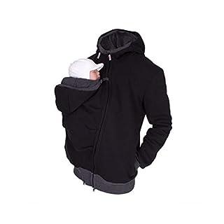 AIHOME Känguru Hoodie Babytrage Pullover Winter Warme Babytrage Mantel Multifunktions Männer Fleece Sweatshirt Hoodie Jacke mit Baby Tasche M-2XL