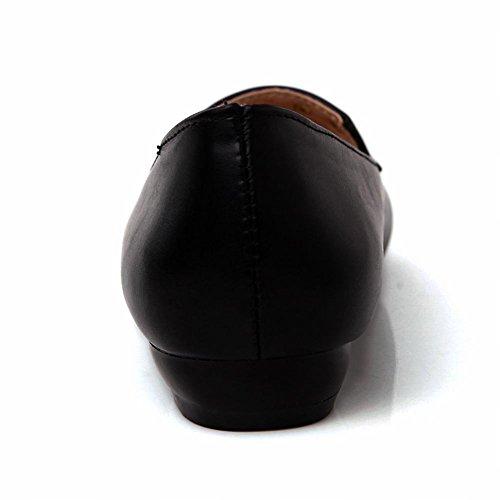 MissSaSa Damen neutral slipper Blockabsatz Büro/kleidschuhe mit Nieten Schwarz