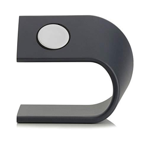 Arktis Ladestation für Apple Watch Alu Ständer Halterung Tischständer Dockingstation schwarz