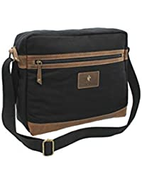 CACTUS Canvas and Distressed Oiled Leather A4 Messenger Laptop Bag CM813  81 1b516447c7d93