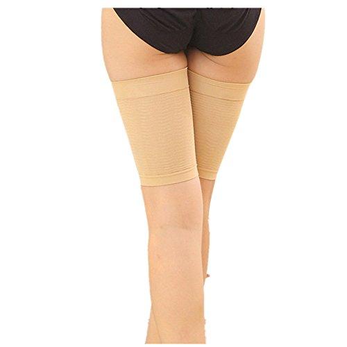 Xshuai Multifunktions-Socke abnehmen Oberschenkel Shaper Elastische Stretch-Atmungsaktivität Plastik-Bein-Socken für Bein (Khaki / Schwarz) (Khaki) (Ruffled Hose Denim)