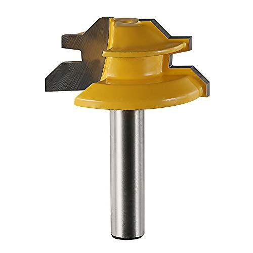 Godbless Router Bits 45 Grad Verleimfräser Gehrung Fräse 8mm Lock Miter Router Bit für Graviermaschine Trimmmaschine