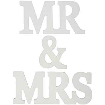 OliaDesign Mr and Mrs Wooden Letters Wedding Decoration/Present