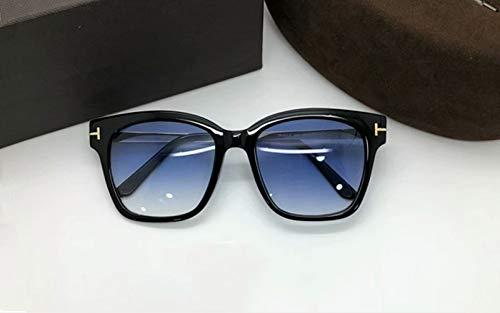 LKVNHP Klassische Fashion Square Sonnenbrille Männer Markendesigner Acetat Vintage Spiegel Sonnenbrille Männlich Fahren Sonnenbrille Frauen Uv400 OculosBlau