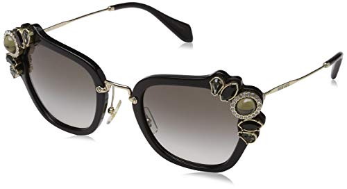 Miu Miu Damen 0MU03SS 1AB0A7 51 Sonnenbrille, Schwarz (Black/Grey),
