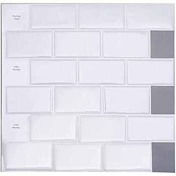 FAM STICKTILES Peel and Stick Tile Backsplash for Kitchen