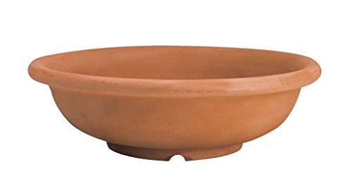 Vaso elbi® ciotola in resina anticata - diametro 95 cm - h 28 cm