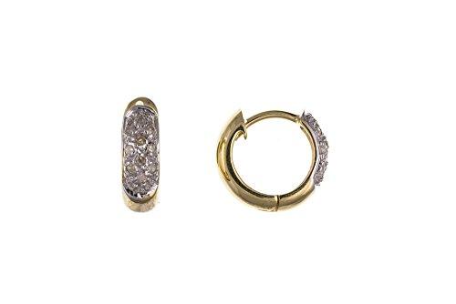 Pendientes con diamantes y oro amarillo real para hombres - Fabricado en Londres