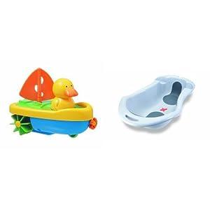 Tigex - Capitán Pato, juguete de baño (80800295) + Tigex Anatomy - Bañera, color gris
