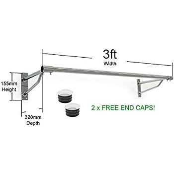wall mounted clothes rail. The Shopfitting Shop 3ft Long Wall Mounted Clothes Rail Chrome Garment Hanging Rack