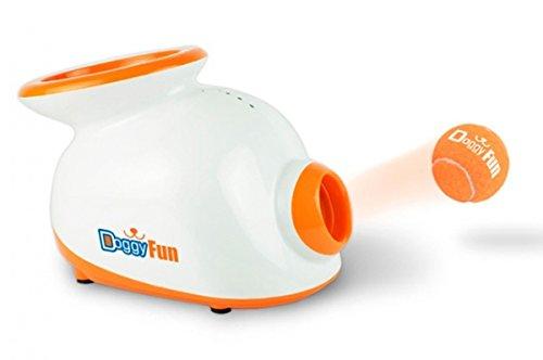 Doggyfun DOGG0010 Sparapalline Automatico per Cane, Bianco
