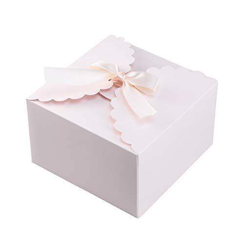15 Stücke Papier Pralinenschachtel Einfarbig Geschenk Fall Behandelt Delicate Snack Goodies Pralinenschachteln Party Supplies (Rosa)