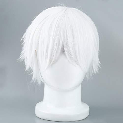 Männliche weiße synthetische Perücke für cosplaying Anime Charaktere -